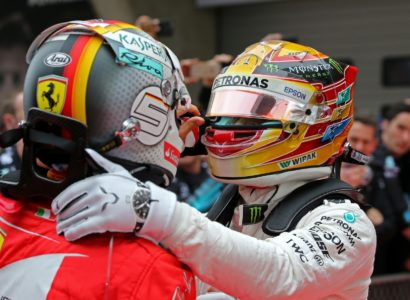 O Hamilton θεωρεί πως ο Vettel υπέκυψε στη πίεση το 2017